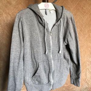 Womens divided zip hood